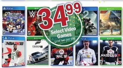 Meijer Black Friday: NBA2K 18, NHL 18, Madden 18, Forza 7 and More Xbox One and PS4 Games for $34.99