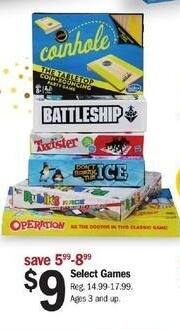 Meijer Black Friday: Cornhole, Battleship, Twister, Operation and More Games for $9.00