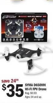 Meijer Black Friday: Syma D650WH Wi-Fi FPV Drone for $35.00