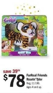 Meijer Black Friday: FurReal Friends Roarin' Tyler for $78.00