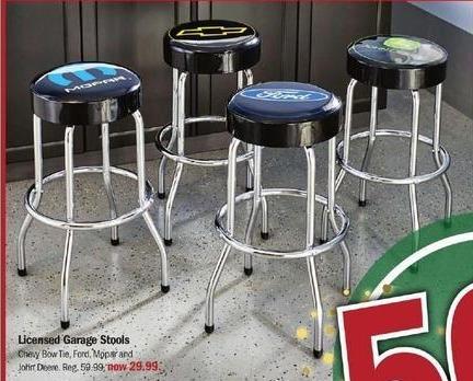Meijer Black Friday: Licensed Garage Stools for $29.99