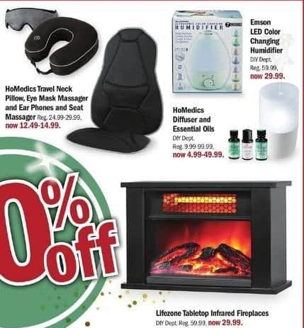 Meijer Black Friday: HoMedics Diffuser and Essential Oils for $4.99 - $49.99