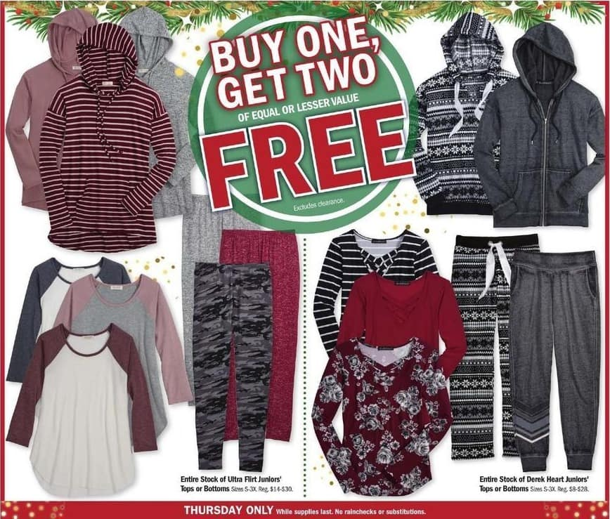 Meijer Black Friday: Entire Stock of Ultra Flirt Juniors' Tops or Bottoms - B1G2 Free