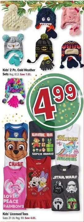 Meijer Black Friday: Kids' 2 Pc. Cold Weather Sets for $4.99