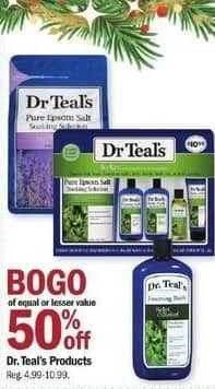 Meijer Black Friday: Dr. Teal's Products - B1G1 50% Off