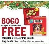 Meijer Black Friday: Milk-Bone 10lbs, or Pup-Peroni Dog Treats 25 oz. - B1G1 Free
