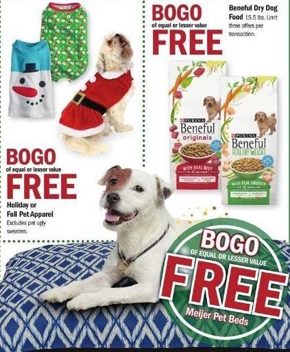 Meijer Black Friday: Meijer Pet Beds - B1G1 Free