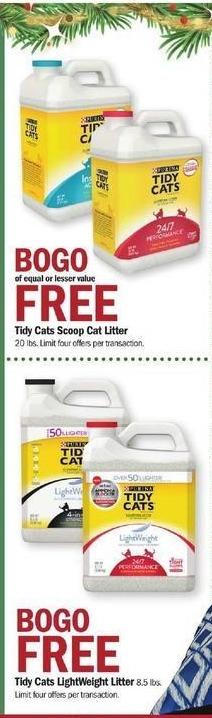 Meijer Black Friday: Tidy Cats Lightweight Litter - B1G1 Free