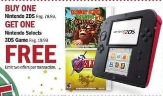 Meijer Black Friday: Buy Nintendo 2DS and Get One Nintendo Selects 3DS Game - B1G1 Free