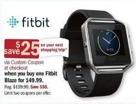 Meijer Black Friday: Fitbit Blaze + $25 Custom Coupon for $149.99