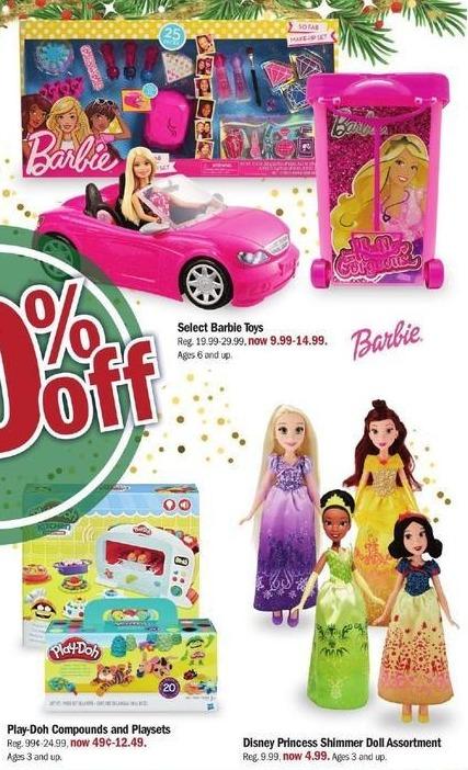 Meijer Black Friday: Disney Princess Shimmer Doll Assortment for $4.99