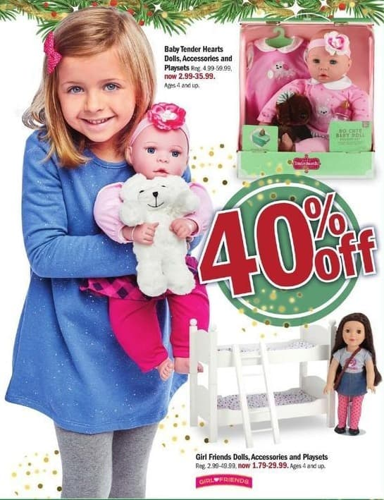 Meijer Black Friday: Baby Tender Hearts Dolls, Accessories and Playsets - 40% Off