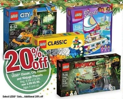 Meijer Black Friday: Lego Classic, City, Friends and Ninjago Playsets - 20% Off