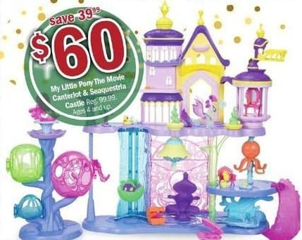Meijer Black Friday: My Little Pony The Movie Canterlot & Seaquestria Castle for $60.00