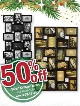 Meijer Black Friday: Select Collage Frames - 50% Off