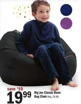 Meijer Black Friday Big Joe Classic Bean Bag Chair For