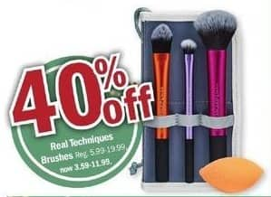 Meijer Black Friday: Real Techniques Brushes - 40% Off