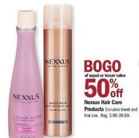 Meijer Black Friday: Nexxus Hair Care - B1G1 50% Off