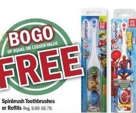 Meijer Black Friday: Spinbrush Toothbrush or Refills - B1G1 Free