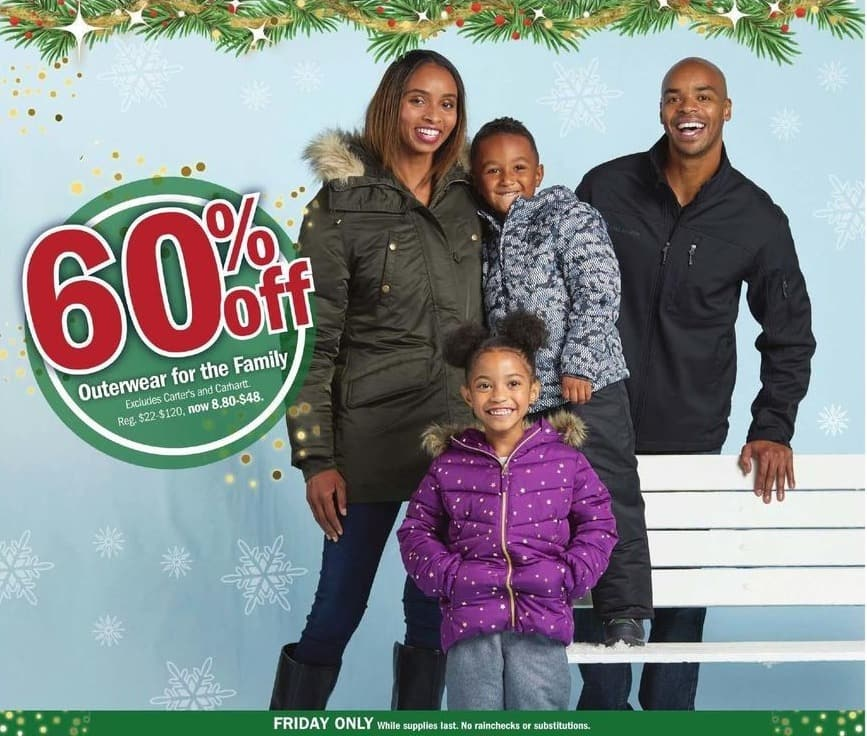Meijer Black Friday: Outerwear for the Family - 60% Off