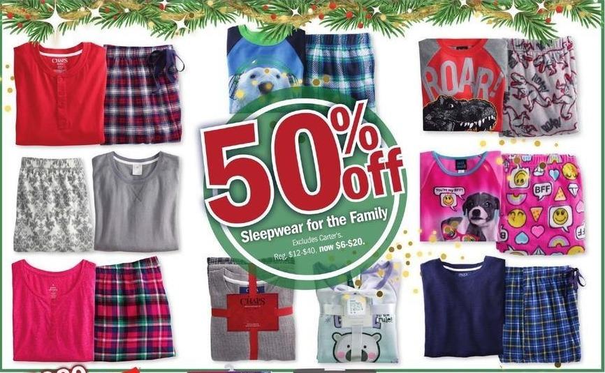 Meijer Black Friday: Sleepwear for the Family - 50% Off