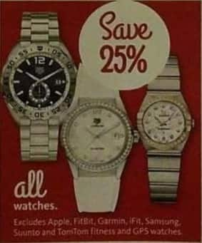AAFES Black Friday: All Watches - 25% Off