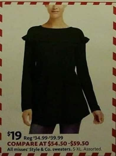 AAFES Black Friday: All Misses' Style & Co. Sweaters for $19.00