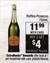 CVS Black Friday: Ruffino Prosecco Purchase 2 and Get $4 in ExtraBucks for $11.99
