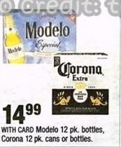 CVS Black Friday: Modelo 12 pk. Bottles, Corona 12 pk. Cans or Bottles for $14.99