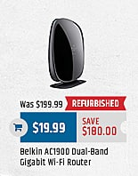 MacMall Black Friday: Belkin AC1900 Dual-Band Gigabit Wi-Fi Router for $19.99