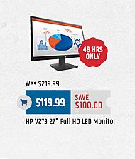 "MacMall Black Friday: HP V273 27"" Full HD LED Monitor for $119.99"