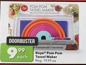 Joann Black Friday: Boye PomPom Tassel Maker for $9.99