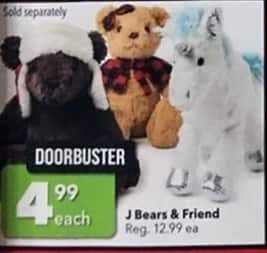 Joann Black Friday: J Bears & Friend for $4.99