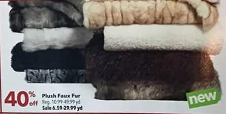 Joann Black Friday: Plush Faux Fur - 40% Off