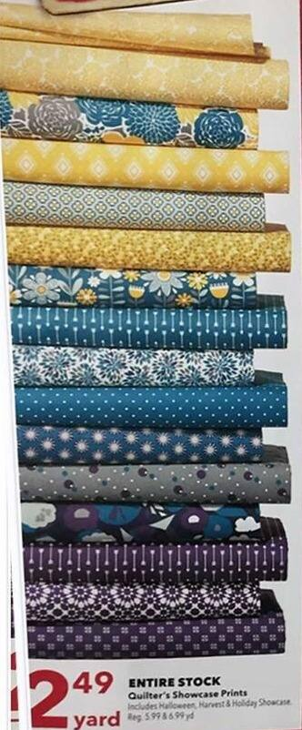 Joann Black Friday: Entire Stock of Quilter's Showcase Prints for $2.49