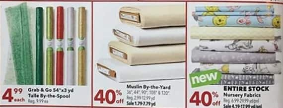 Joann Black Friday: Muslin By-the-Yard - 40% Off