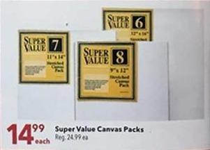 Joann Black Friday: Super Value Canvas Packs for $14.99