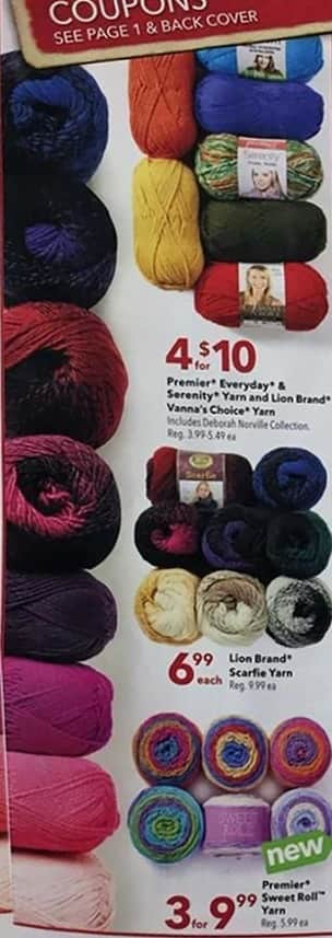 Joann Black Friday: Lion Brand Scarfie Yarn for $6.99