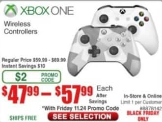 Frys Black Friday: Select Xbox One Wireless Controllers for $47.99 - $57.99
