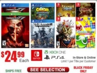 Frys Black Friday: Tekken 7, Crash Bandicoot N. Sane Trilogy, Rayman Legends and More Select  Video Games for $24.99