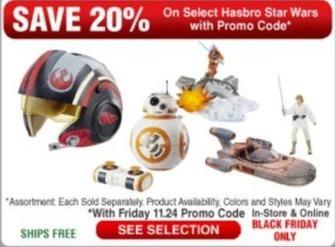 Frys Black Friday: Select Hasbro Star Wars - 20% Off