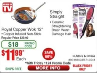 "Frys Black Friday: Royal Copper Wok 12"" for $11.99"