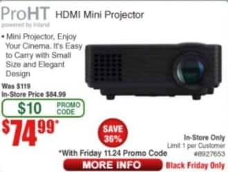 Frys Black Friday: ProHT HDMI Mini Projector for $74.99