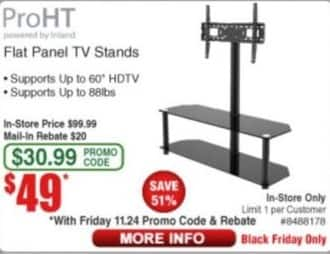 Frys Black Friday: ProHT Flat Panel TV Stands for $49.00