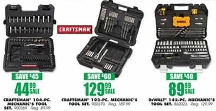 Blains Farm Fleet Black Friday: Craftsman 104-PC. Mechanic's Tool Set for $44.99