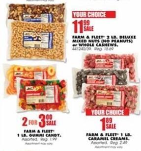 Blains Farm Fleet Black Friday: Farm & Fleet 2lb. Deluxe Mixed Nuts ( No Peanuts ) or Whole Cashews - Your Choice for $11.99