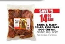 Blains Farm Fleet Black Friday: Farm & Fleet 25- PC. Pigs Pack Dog Chews for $14.99