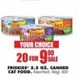 Blains Farm Fleet Black Friday: ( 20 ) Friskies 5.5 Oz. Canned Cat Food for $9.00