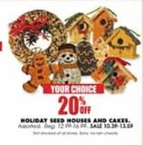Blains Farm Fleet Black Friday: Holiday Seed Houses and Cakes - 20% Off