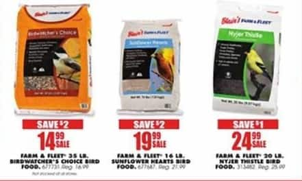 Blains Farm Fleet Black Friday: Farm & Fleet 35 LB. Birdwatcher's Choice Bird Food for $14.99